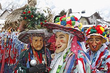 Ebenseer Fetzenzug carnival procession, UNESCO cultural heritage, carnival parade in Ebensee, Salzkammergut, Upper Austria, Austria, Europe