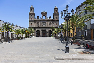 Cathedral of Santa Ana, Plaza Santa Ana, Vegueta, old town of Las Palmas, Las Palmas de Gran Canaria, Gran Canaria, Canary Islands, Spain, Europe, PublicGround
