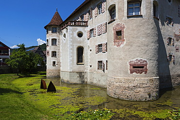 Moated Castle of Glatt, Glatt, Black Forest, Baden-Wuerttemberg, Germany, Europe, PublicGround