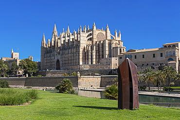 La Seu Cathedral, historic town centre, Palma de Majorca, Majorca, Balearic Islands, Spain, Europe