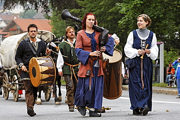 Historical Saeumer festival, Grafenau, Bavarian Forest, Lower Bavaria, Germany