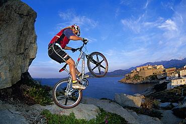 Mountainbiking, Bonifacio, Corsica, France