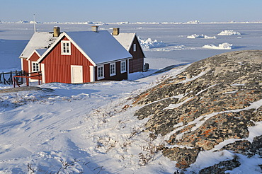 Residential house, Ilulissat, Greenland, Arctic North America