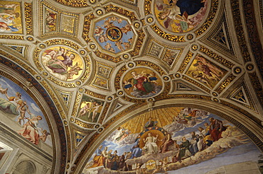 Ceiling design, Vatican Museums, Rome, Italy, Europe