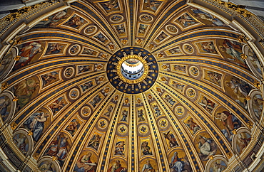 Dome of St. Peter's Basilica, Vatican, Rome, Italy, Europe