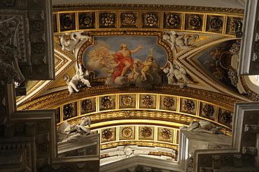 Ceiling design, Church of Santa Maria in Campitelli, Rome, Italy, Europe