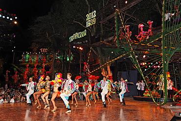Show with dancers at the Tropicana open-air nightclub in the suburb of Marianao, La Habana, Havana, Villa San Cristobal de La Habana, Republic of Cuba, Caribbean, Central America