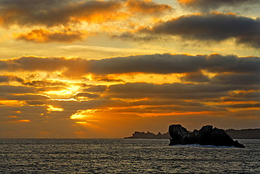 Sunset with clouds, San Benedicto Island, near Socorro, Revillagigedo Islands, archipelago, Mexico, eastern Pacific