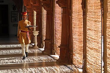 Staff, Laxmi Niwas Heritage Hotel, Bikaner, Rajasthan, India, Asia
