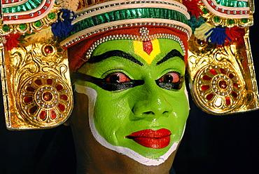 Thullal player, Kottayam, Kerala, South India, India, Asia