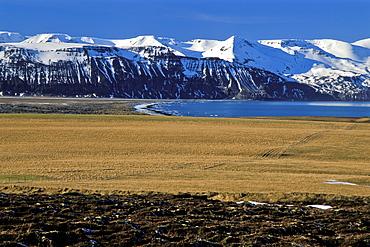 Mountainous Landscape near Húsavík, Norðurland eystra, North-East Iceland, Iceland, Europe