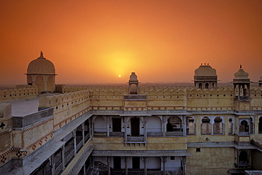 Karni Fort Bambora Palace Hotel, sunset, Rajasthan, India, Asia