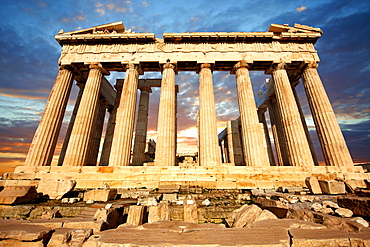 Parthenon Temple, Acropolis of Athens, Greece, Europe