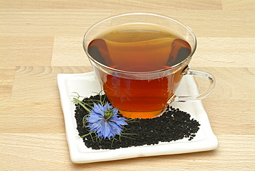 Fennel Flower or Black Caraway (Nigella sativa) herbal tea, medicinal tea