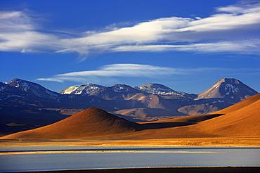 Mountain massif in the evening light, Uyuni, Bolivia, South America