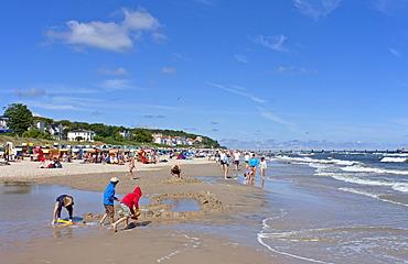 Beach at Bansin, Usedom Island, Mecklenburg-Western Pomerania, Germany, Europe