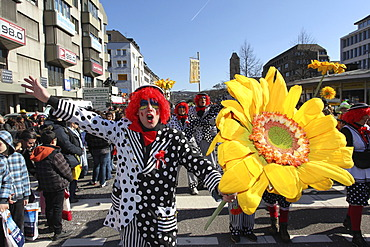 Rosenmontagszug, Carnival procession, Koblenz, Rhineland-Palatinate, Germany, Europe