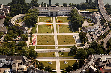 Aerial view, Electoral Palace, Koblenz, Rhineland-Palatinate, Germany, Europe