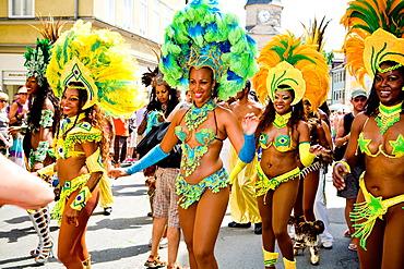 Dancers at the Samba Festival in Coburg, Bavaria, Germany, Europe