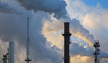 The Marathon Petroleum refinery, Detroit, Michigan, United States