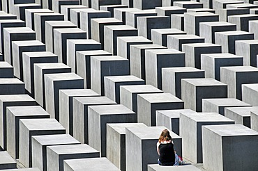Memorial to the murdered Jews in Europe, Holocaust Memorial, Berlin, Germany, Europe