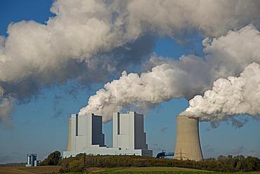 Neurath power plant, operated by RWE Power AG, lignite-fired baseload power plant, Grevenbroich-Neurath, North Rhine-Westphalia, Germany