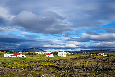 Townscape of Reykjahlið, Myvatn, Norðurland eystra, Iceland, Europe