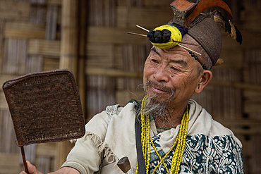 Warriors from the Nyishi people, Arunachal Pradesh, India, Asia