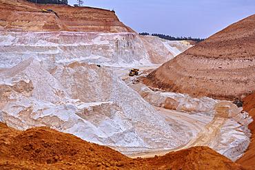 Kaolin pit, mining of kaolin, Gebenbach, Bavaria, Germany, Europe