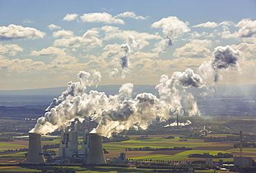Lignite power plants, lignite mines, RWE Power AG power plant Neurath, BoA 2 & 3, RWE Energie AG power plant Niederaussem, Grevenbroich, Rhineland, North Rhine-Westphalia, Germany, Europe