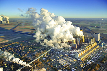 Neurath power plant, existing power plant blocks A to E, RWE lignite power plant, Grevenbroich, Bergheim, Rhineland, North Rhine-Westphalia, Germany, Europe
