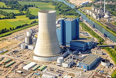 Power plant Datteln 4 under construction, coal power station, Datteln, Ruhr Area, North Rhine-Westphalia, Germany, Europe