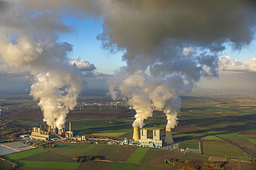 Lignite-fired power plant, RWE Power AG Neurath power station, BoA 2&3, Bergheim, Rhineland, North Rhine-Westphalia, Germany, Europe