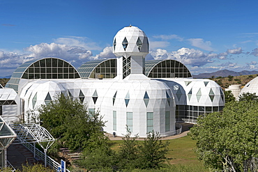Biosphere 2, self-sustaining ecosystem, lodgings of mission's scientists, Oracle, Arizona, USA, North America