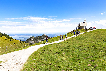Steinling Chapel at Steinlingalm, Chiemsee, Aschau, Bavaria, Germany, Europe