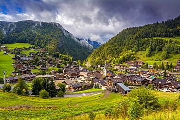 La Clusaz village, departement Haute-Savoie, Auvergne-Rhone-Alpes, France, Europe