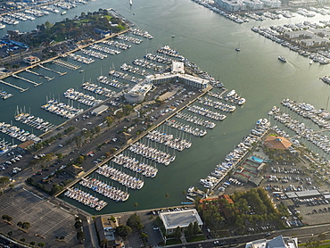 Marina Venice Yacht Club, marina, motor boats, sailboats, Admiralty Way, Marina del Rey, Los Angeles County, California, USA, North America