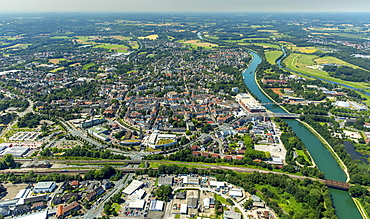 Aerial view, Wesel-Datteln Canal, Dorsten, Ruhr, North Rhine-Westphalia, Germany, Europe