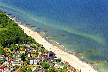 Seaside resort Niechorze, long sandy beach, The Baltic Coast, West Pomerania Province, Poland, Europe