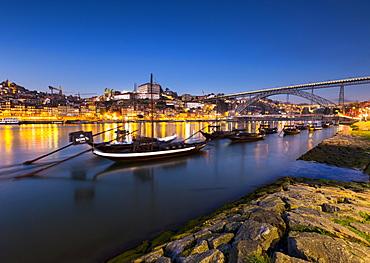 Rabelo boats, port wine boats on the Rio Douro, Douro River, Porto, Portugal, Europe