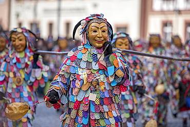 Spättlehansel in the carnival procession, Big Fasendumzug, Alemannic Fasnacht, Gengenbach, Ortenaukreis, Baden-Württemberg, Germany, Europe