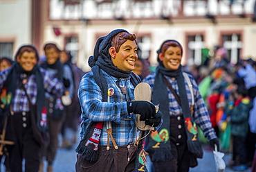 Carnival procession, Fasendumzug, Alemannic Fasnacht, Gengenbach, Baden-Württemberg, Germany, Europe