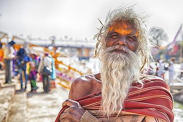 Sadhu during Hindu festival Kumbh Mela, Portrait, Ujjain, India, Asia