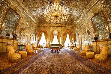 Magnificent Golden Hall, Golestan Palace in Tehran, Iran, Asia
