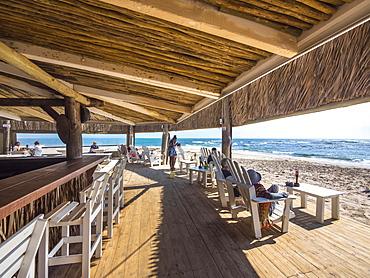 Restaurant Tiger Reef on the beach in Swakopmund, Namibia, Africa