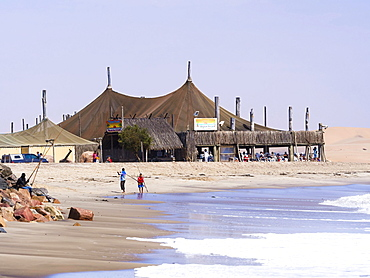 Restaurant Tiger Reef on the beach in Swakopmund, Namibia, Africa