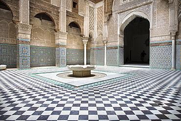 Al-Attarine Madrasa, former Koran school, Fes, Morocco, Africa