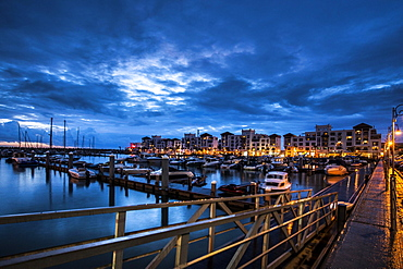 Harbor in the evening light, Agadir, Morocco, Africa