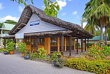 Tourism office at harbour, La Passe, La Digue Island, Seychelles, Africa