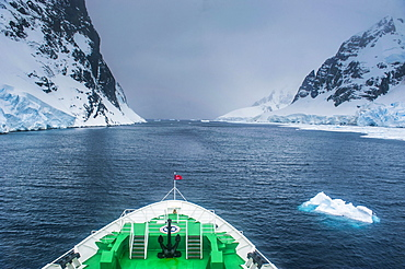 Cruise ship in the Lemaire Channel, Antarctica